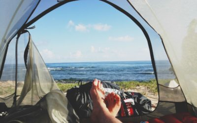 WE PITCHED OUR TENT ON A CLIFF